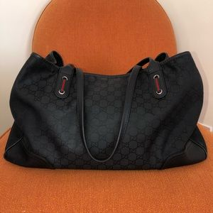 Gucci Black Monogram GG Canvas Bag